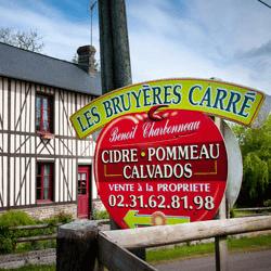 Les Bruyères Carré, Cidrerie Charbonneau à Moyaux